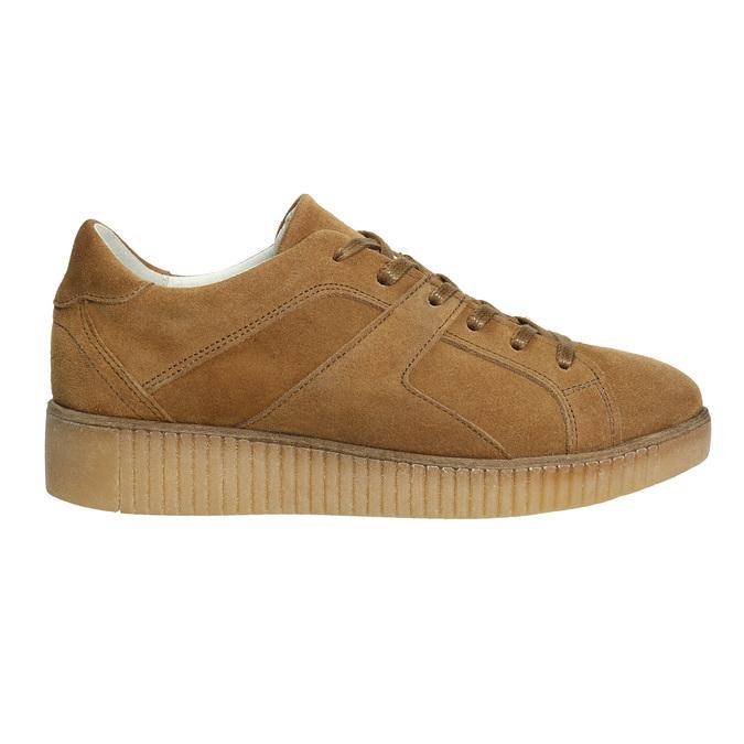 Hnedé kožené tenisky bata, hnedá, 523-8604 - 15