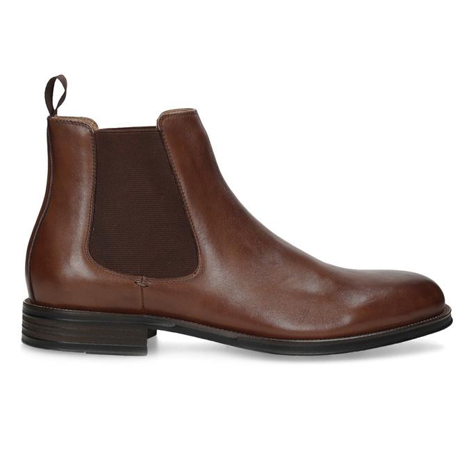Hnedé kožené Chelsea Boots bata, hnedá, 896-3400 - 19