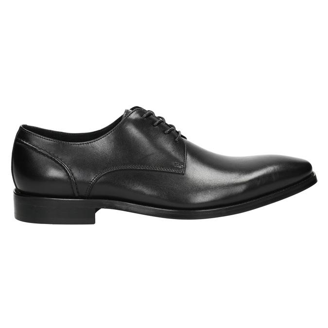 Čierne kožené Derby poltopánky bata, čierna, 824-6405 - 15