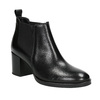 Dámska kožená členková obuv bata, čierna, 694-6641 - 13