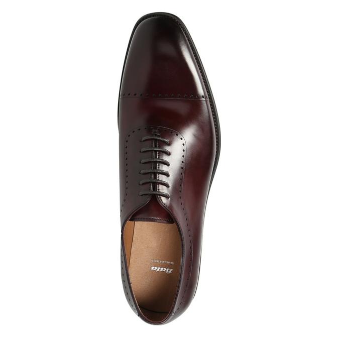 Pánske kožené Oxford poltopánky bata, červená, 826-5683 - 26