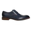 Ležérne  modré kožené poltopánky bata, modrá, 826-9681 - 15