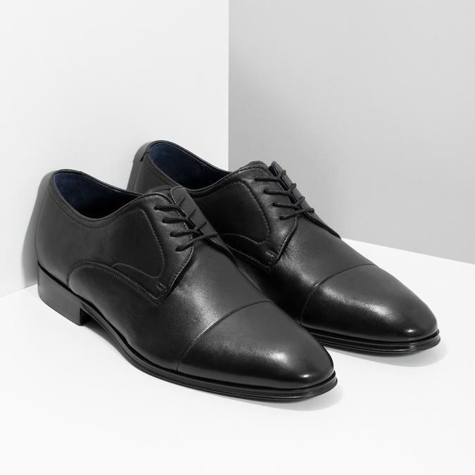 Kožené pánske Derby poltopánky bata, čierna, 824-6406 - 26