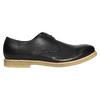 Kožené poltopánky s ležérnou podrážkou bata, čierna, 824-6412 - 15