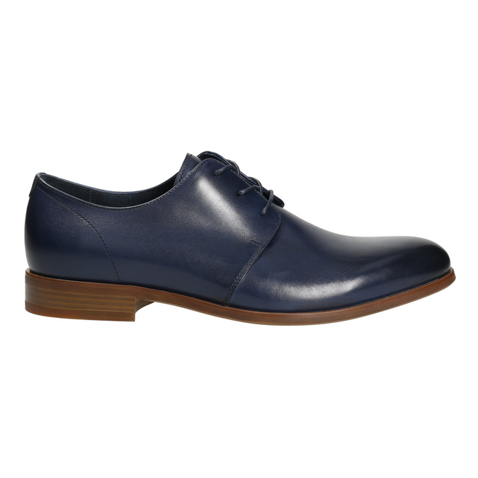 Modré kožené poltopánky bata, modrá, 826-9680 - 15