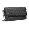 Dámska listová kabelka s cvočkami bata, čierna, 961-6791 - 13
