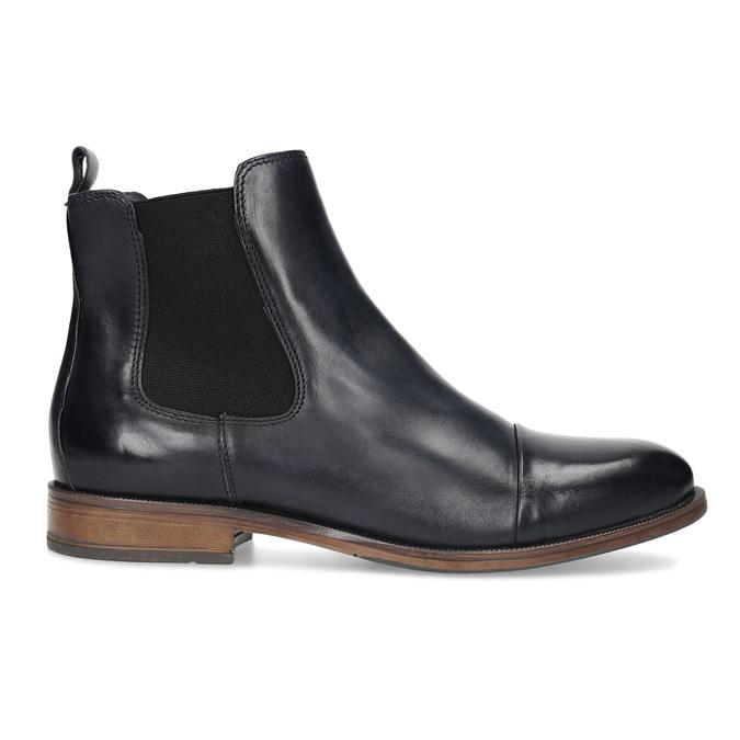 Dámska kožená Chelsea obuv bata, modrá, 594-9636 - 19