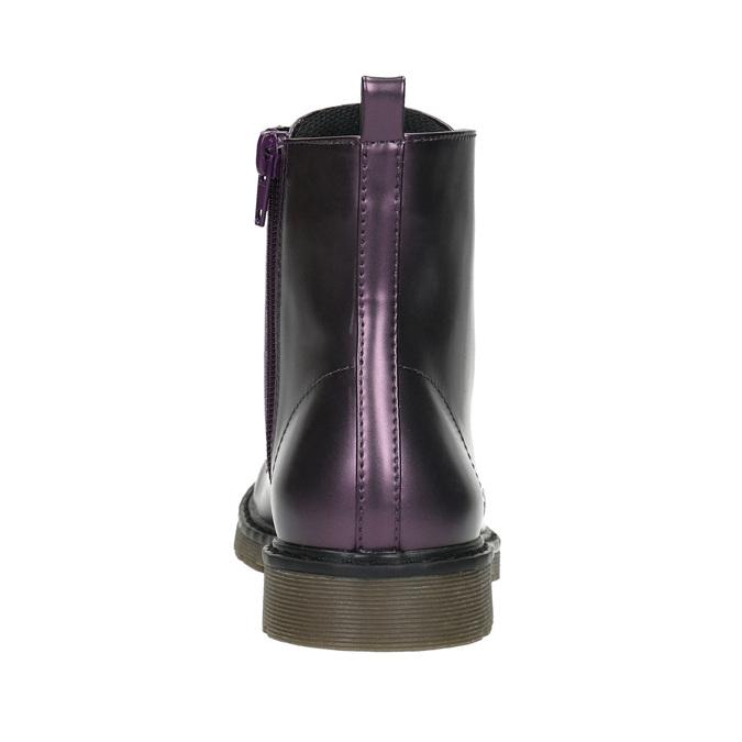 Metalická detská obuv mini-b, fialová, 321-9612 - 17