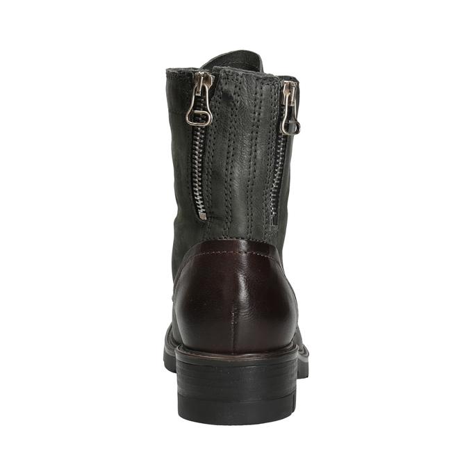 Kožená dámska obuv bata, šedá, 596-2616 - 16