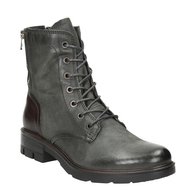 Kožená dámska obuv bata, šedá, 596-2616 - 13