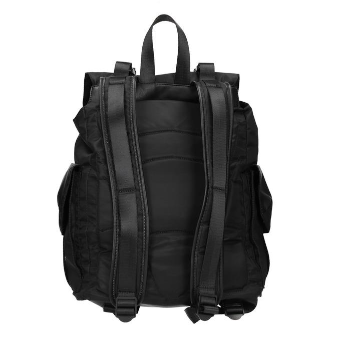 Čierny batoh s vreckami bata, čierna, 969-6163 - 16