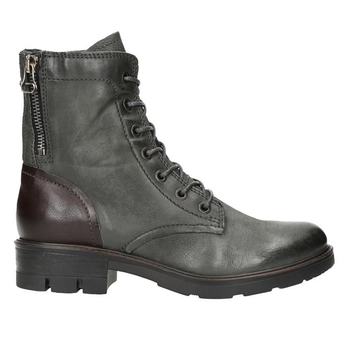 Kožená dámska obuv bata, šedá, 596-2616 - 26