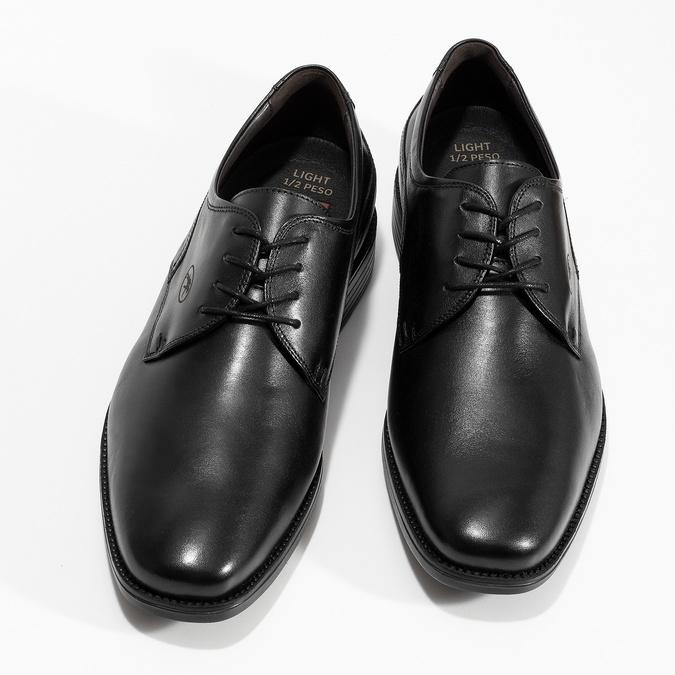 Kožené derby pánske čierne poltopánky fluchos, čierna, 824-6440 - 16