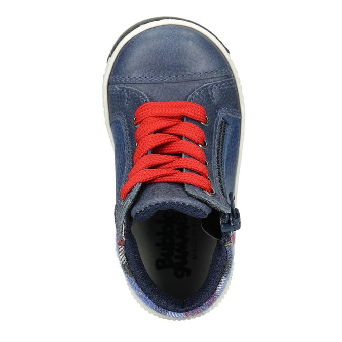 Detská kožená členková obuv bubblegummers, modrá, 114-9603 - 15