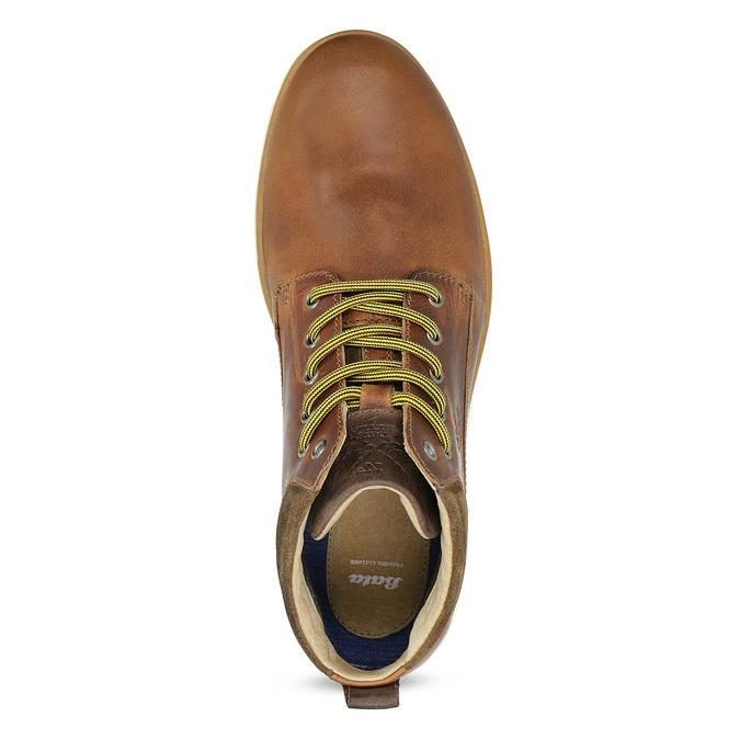 Hnedá kožená pánska členková obuv bata, hnedá, 846-3645 - 17