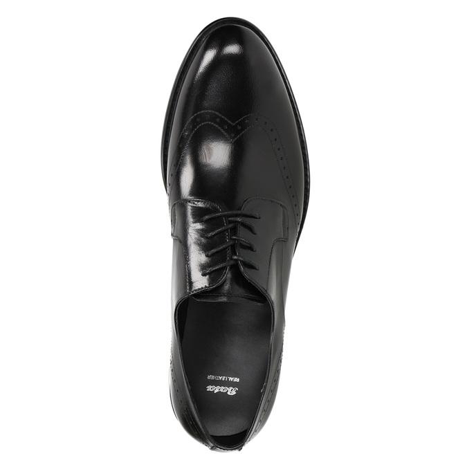 Pánske kožené Brogue poltopánky bata, čierna, 824-6227 - 19