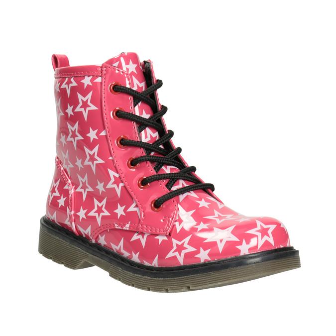 Dievčenská šnurovacia obuv s hviezdičkami mini-b, ružová, 291-5167 - 13