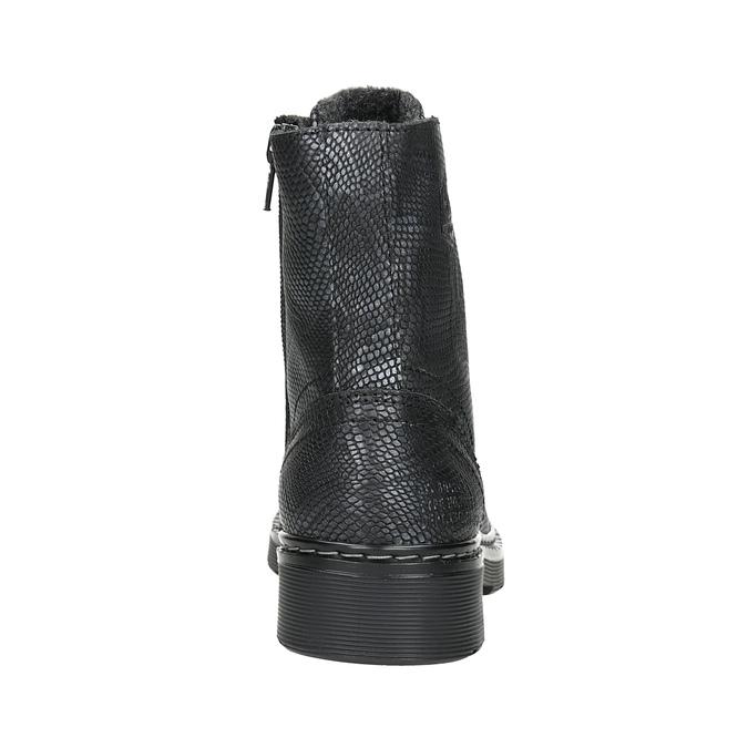 Detské kožené šnurovacie topánky bullboxer, čierna, 496-6016 - 16