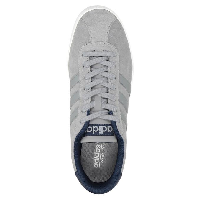 Šedé kožené tenisky adidas, šedá, 803-7197 - 15
