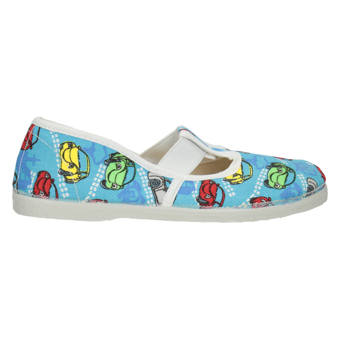 Detská domáca obuv s autíčkami bata, modrá, 279-9105 - 26