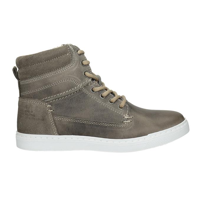 Detská kožená členková obuv bullboxer, šedá, 494-8023 - 26