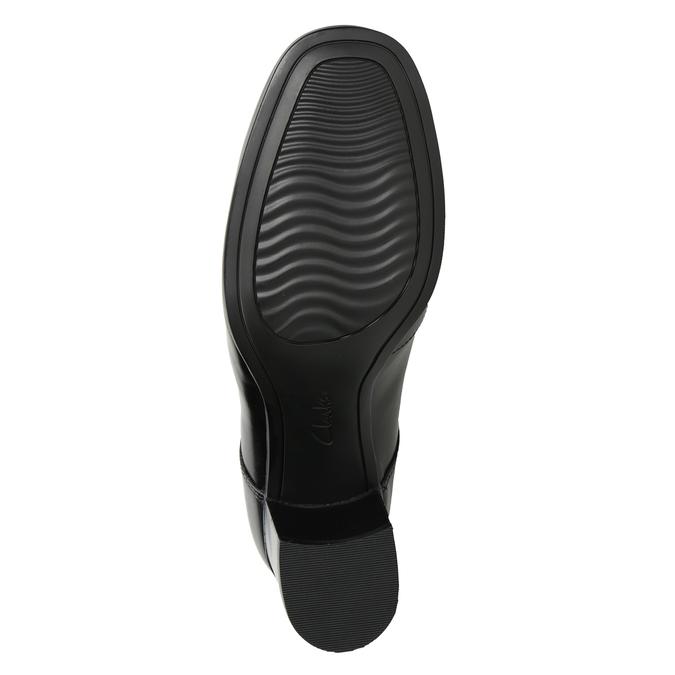 Kožené poltopánky na podpätku clarks, čierna, 724-6039 - 17