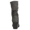 Dámske čižmy s riasením bata, šedá, 796-2646 - 17