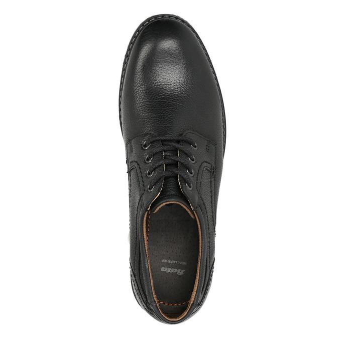 Pánske kožené Derby poltopánky bata, čierna, 824-6926 - 26
