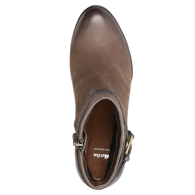 Dámske členkové čižmy s prackou bata, hnedá, 796-4644 - 19