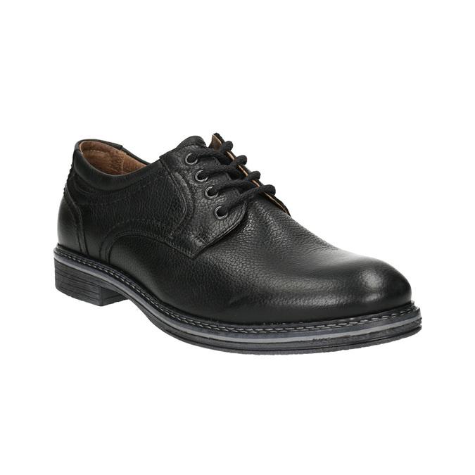 Pánske kožené Derby poltopánky bata, čierna, 824-6926 - 13