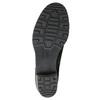 Kožené členkové čižmy s prackou bata, čierna, 696-6621 - 26
