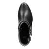 Kožená čierna členková obuv bata, čierna, 596-6669 - 15