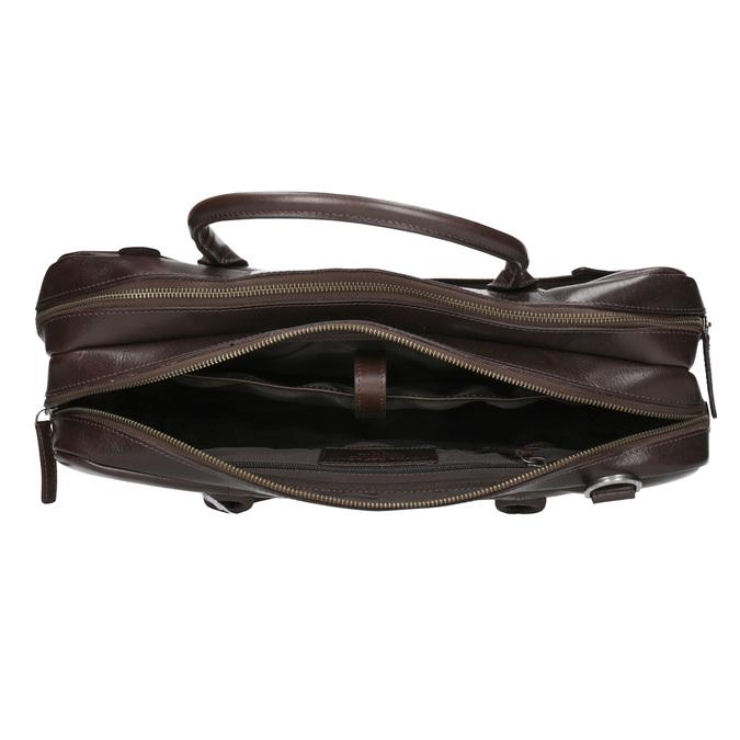 Kožená taška s popruhom royal-republiq, hnedá, 964-4052 - 15
