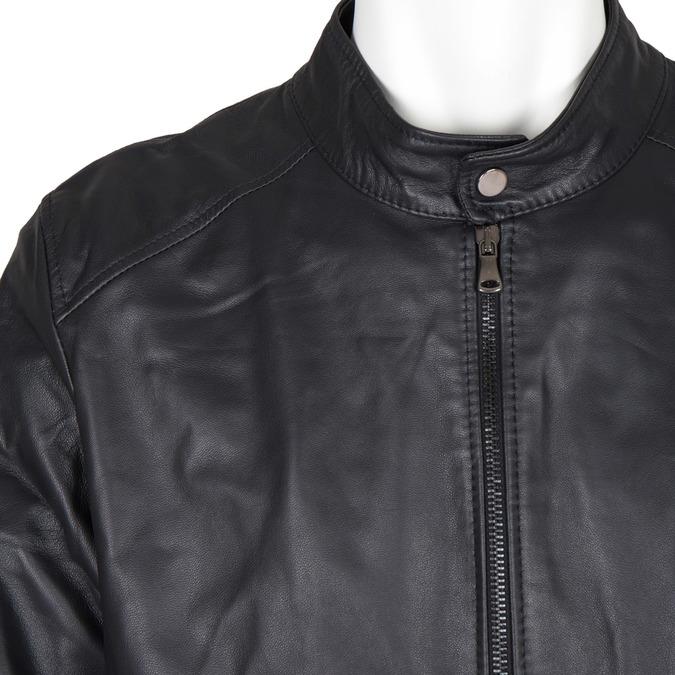 Pánska kožená bunda bata, čierna, 974-6154 - 16