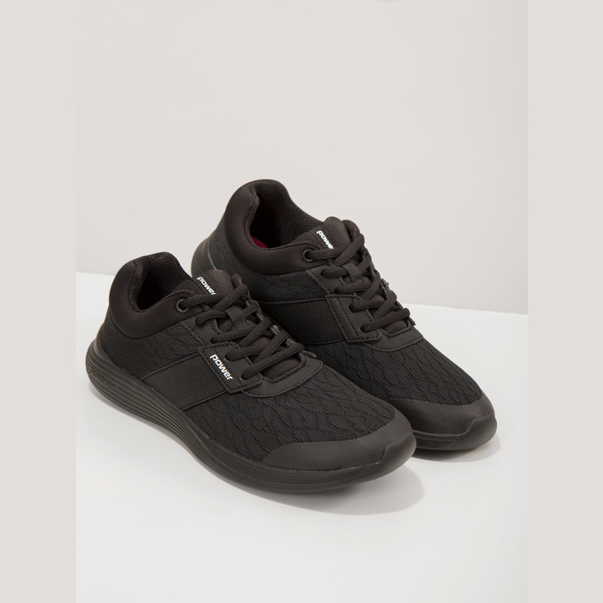 Dámske čierne tenisky power, čierna, 509-6203 - 19