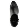 Členková obuv na podpätku bata, čierna, 691-6634 - 26