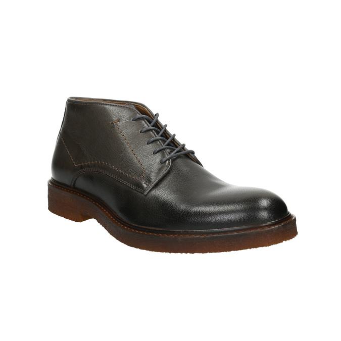 Kožené Chukka Boots bata, šedá, 826-3919 - 13