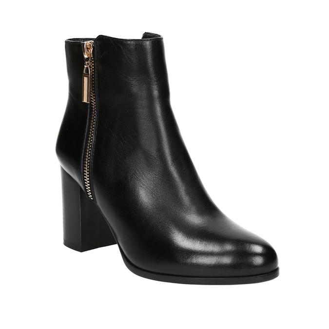 Kožené členkové čižmy bata, čierna, 694-6640 - 13