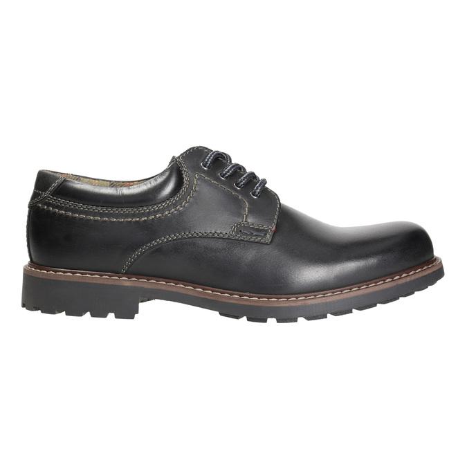 Kožené pánske poltopánky bata, čierna, 826-6619 - 15