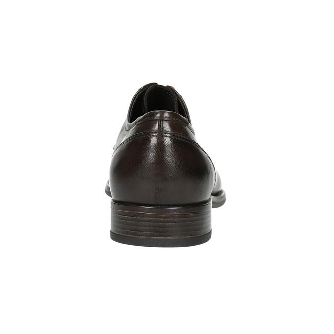 Hnedé kožené Derby poltopánky bata, hnedá, 824-4618 - 17