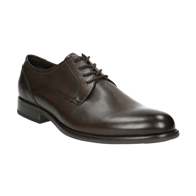 Hnedé kožené Derby poltopánky bata, hnedá, 824-4618 - 13