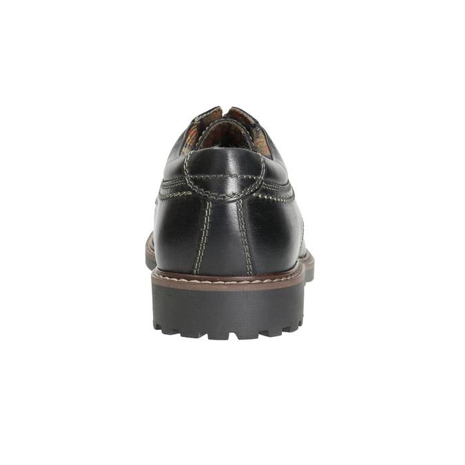 Kožené pánske poltopánky bata, čierna, 826-6619 - 17