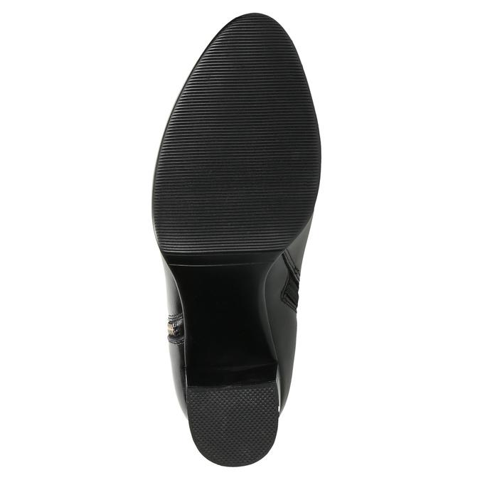 Kožené členkové čižmy bata, čierna, 694-6640 - 19
