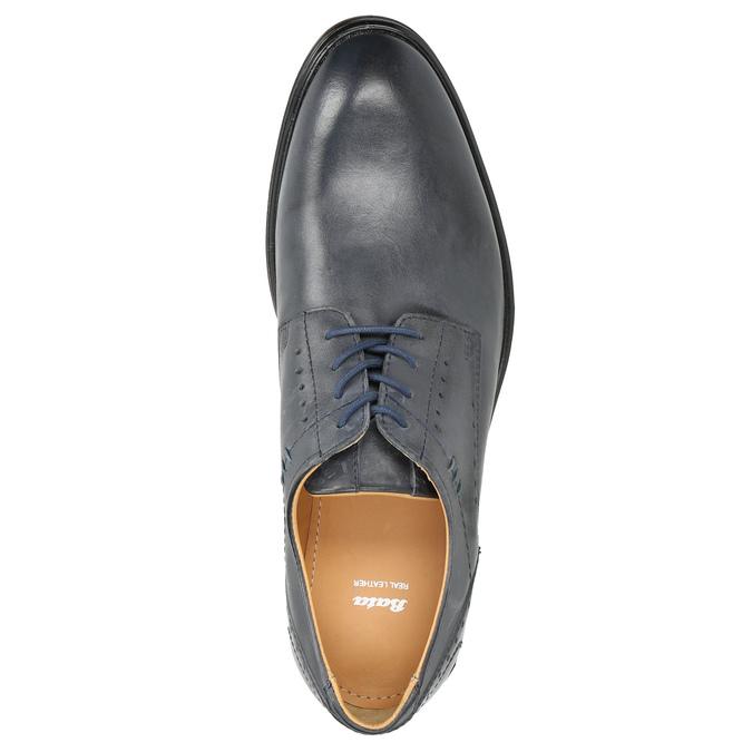 Modré pánske kožené poltopánky bata, modrá, 826-9913 - 26