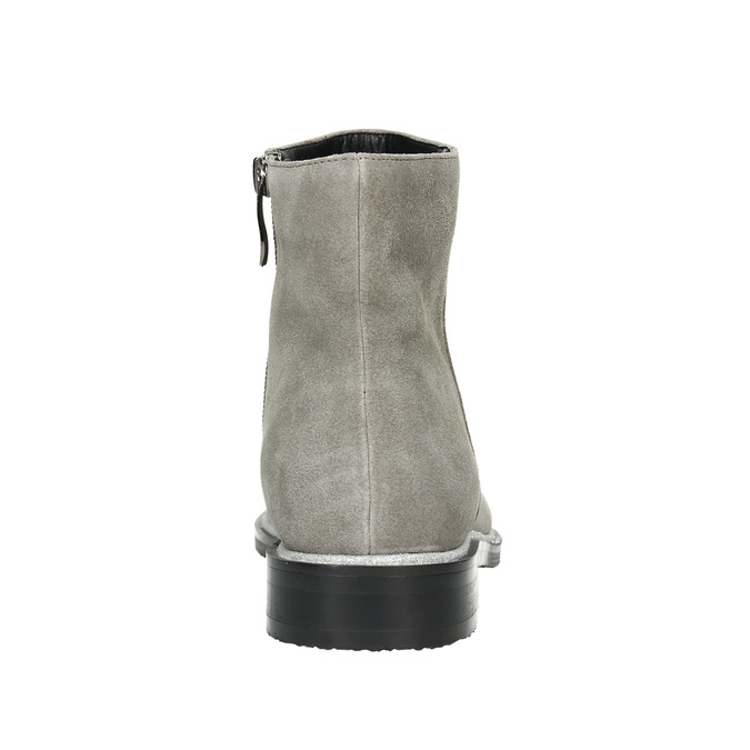 Členková obuv z brúsenej kože bata, šedá, 593-2603 - 17
