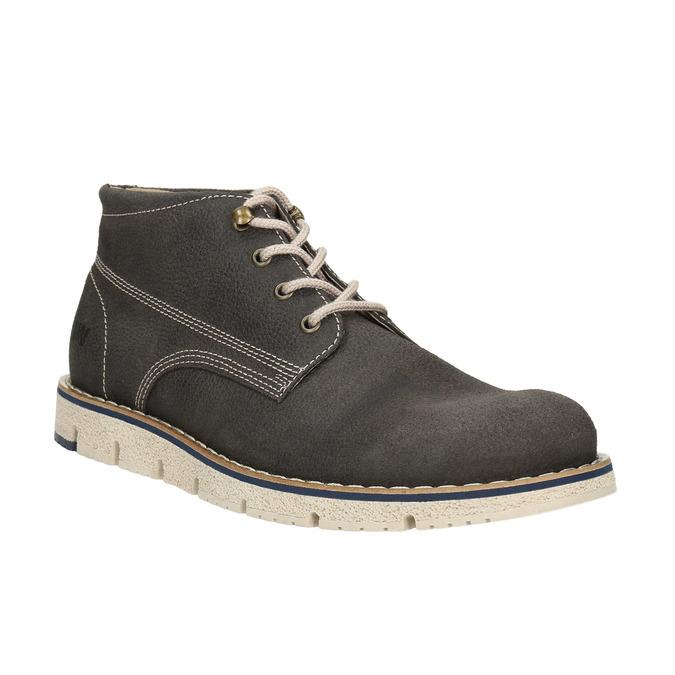 Členková pánska obuv s výraznou podrážkou weinbrenner, šedá, 846-2657 - 13
