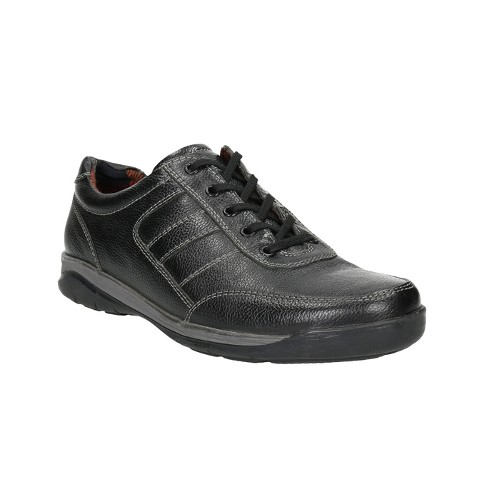 Pánske kožené tenisky bata, čierna, 824-6921 - 13