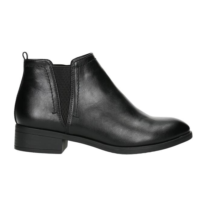 Členková dámska obuv bata, čierna, 591-6619 - 15