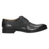 Kožené poltopánky s modrým prešitím bata, čierna, 826-6915 - 15