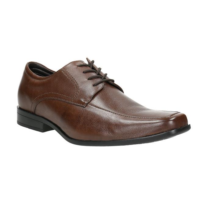 Hnedé kožené poltopánky bata, hnedá, 824-4600 - 13